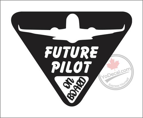 Future Pilot on Board Vinyl Decal - Black