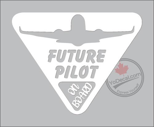 Future Pilot on Board Vinyl Decal - White