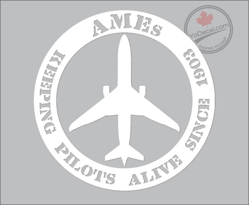 AME Keeping Pilots Alive Vinyl Decal - White
