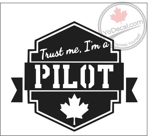 Trust Me I'm a Pilot Vinyl Decal - Black