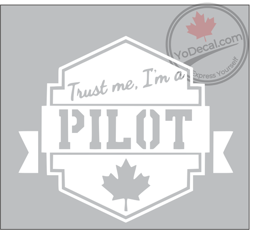 Trust Me I'm a Pilot Vinyl Decal - White