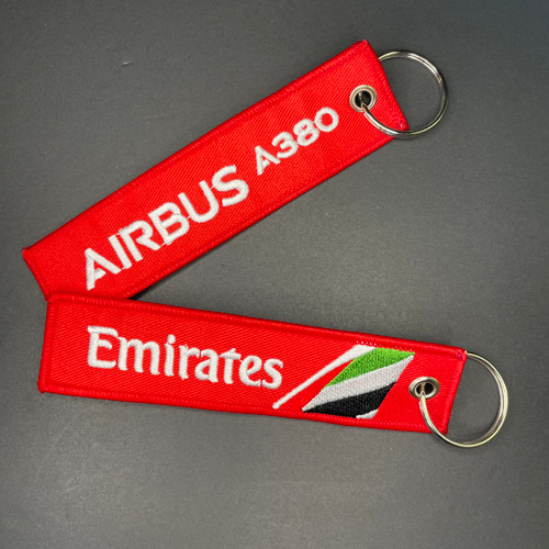 Embroidered Keychain - Emirates A380