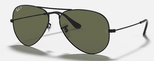 Ray-Ban Aviator Classic Green Lens Black Frame