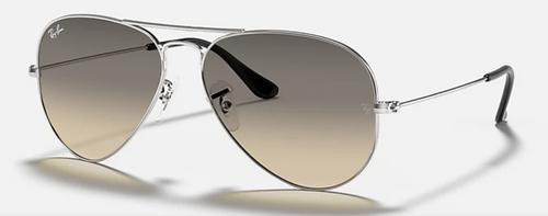 Ray-Ban Aviator Light Gray Gradient Lens Silver Frame