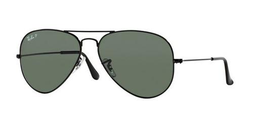 Ray-Ban Polarized Aviator Classic Green Lens Sunglasses