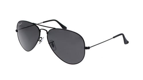 Ray-Ban Polarized Aviator Total Black Sunglasses