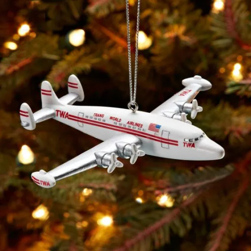 TWA Super Constellation Airplane Ornament