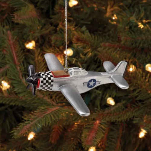 P-51 Mustang Airplane Ornament