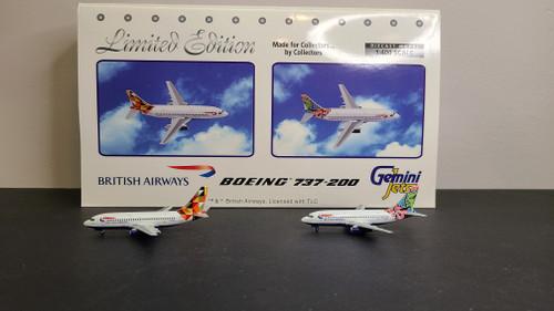 """Gemini Jets 1:400 British Airways 737-200 """"Twin Pack"""""""
