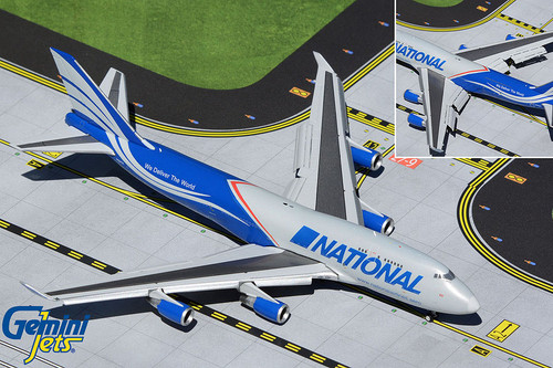 Gemini Jets 1:400 National Airlines 747-400BCF (Flaps Down)