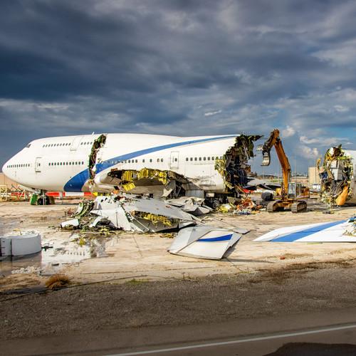 AviationTag Boeing 747-400 Keychain  - 4X-ELA - Silver