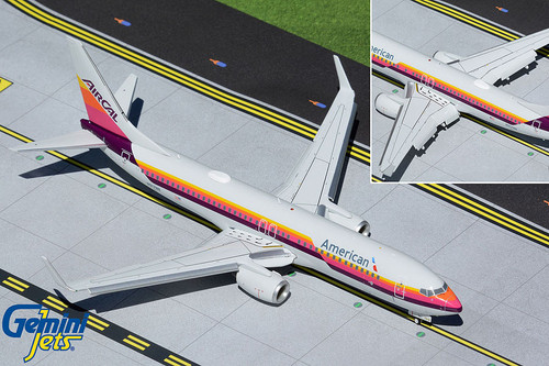 Gemini200 1:200 American Airlines 737-800 (AirCal Heritage Livery, w/Flaps Down)