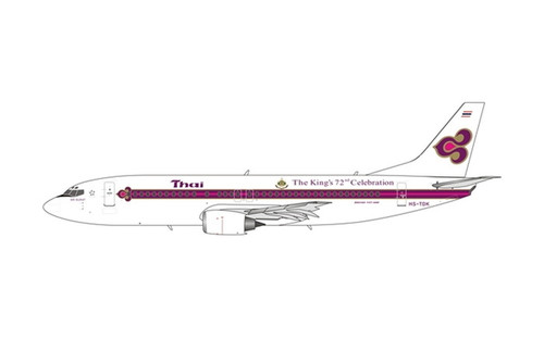Phoenix 1:400 Thai Airways 737-400 (HS-TDK, King's 72nd Celebration)