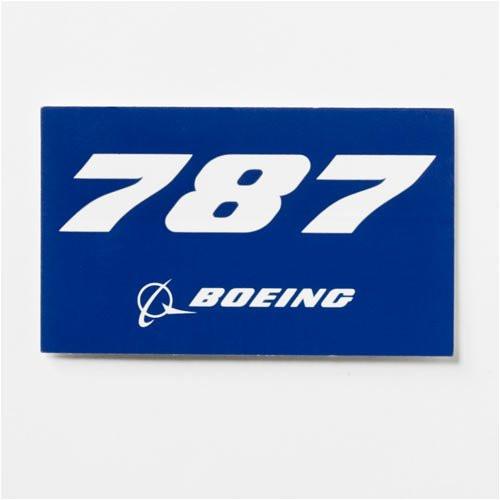 787 Blue Sticker