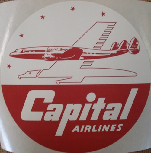 Capital Airlines Vintage Logo Sticker