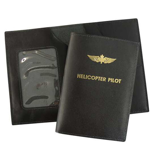 Leather Wing Emblem License Wallet