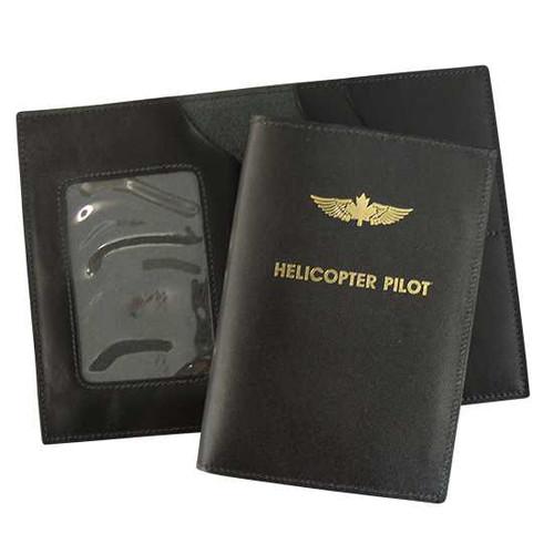 Leather Wing Emblem License Wallet