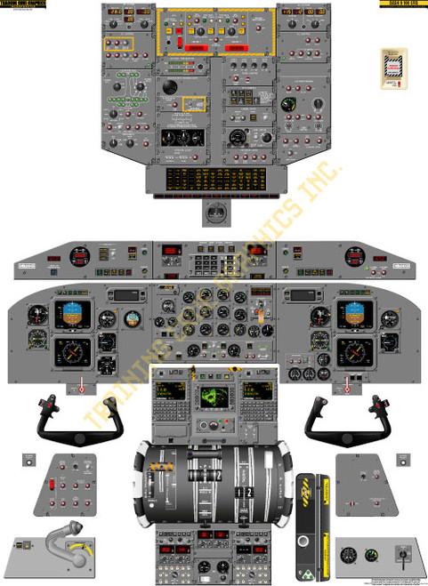 Bombardier Dash 8-100 EFIS Poster