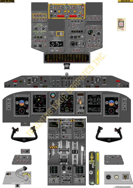 Bombardier Dash 8-Q400 Round Gauges Poster