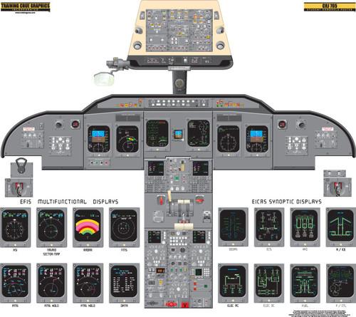 Bombardier CRJ 705 EFIS/EICAS Poster