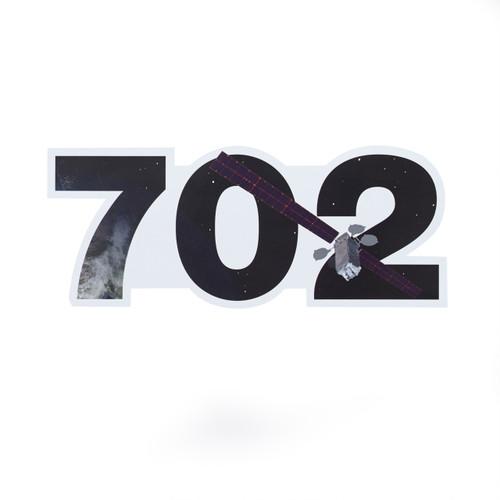 702 Satellite  Die-Cut Sticker