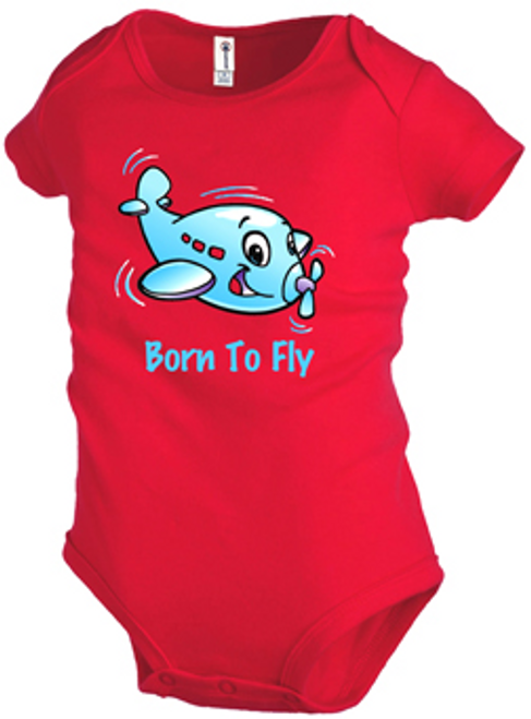 Born to Fly Onesie ( Red )