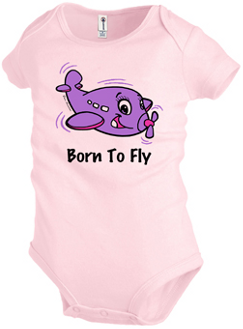 Born to Fly Onesie (Pink)