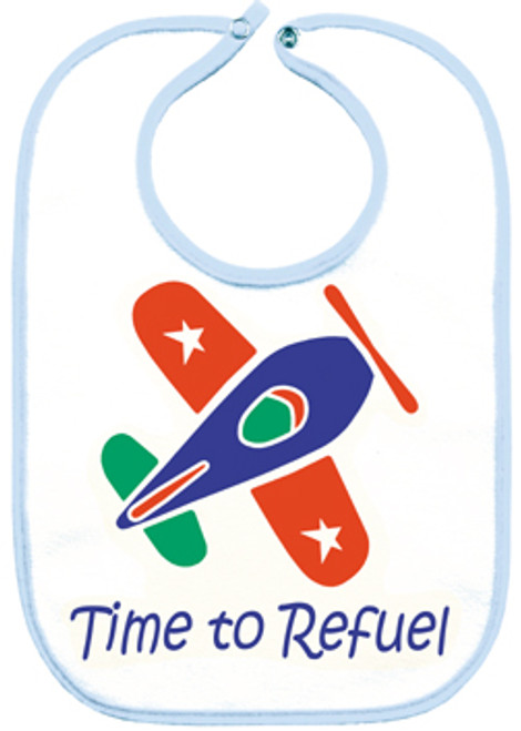 Blue Airplane Bib