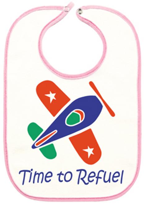 Pink Airplane Bib