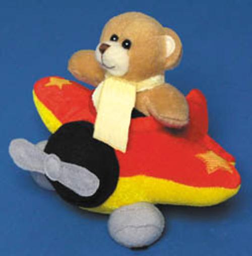 Pilot Bear in a Plush Airplane Stuffed Toy