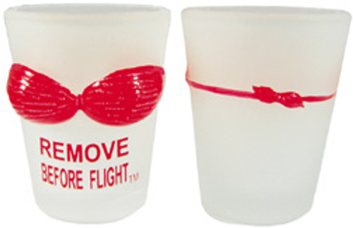 Bikini Remove before flight Shot Glass