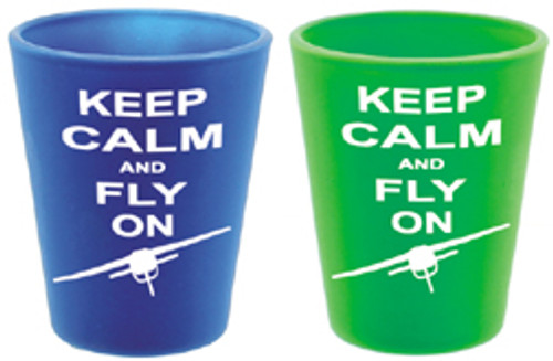 """Keep Calm and Fly On"" Shot Glass"