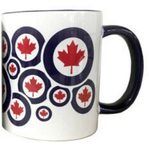 RCAF Roundel Patterned Mug (RED AND NAVY)