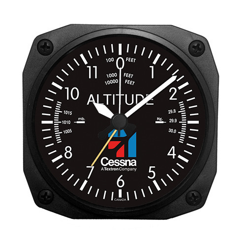 "3.5"" Cessna Altimeter Desk Model Alarm Clock"