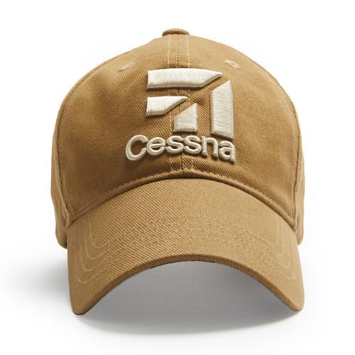 Cessna 3D Logo Cap (Tan)