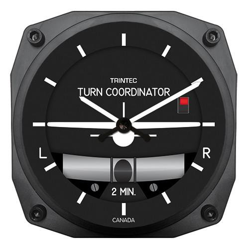 "6"" Bank & Turn Indicator Style Clock"