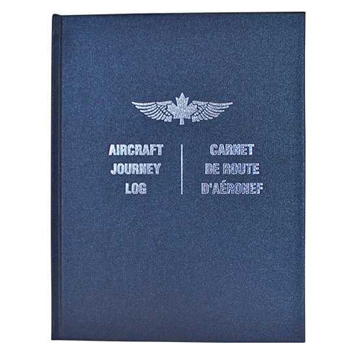 Journey Log: Hardcover, Navy Blue