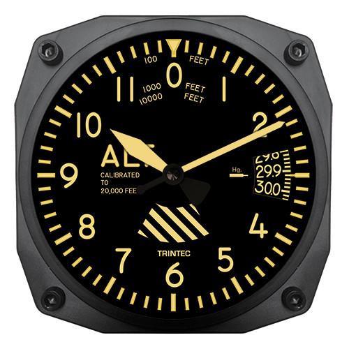 "6"" Vintage Altimeter Instrument Style Clock"