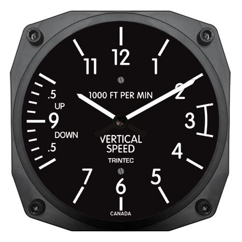 "6"" VSI Instrument Style Clock"