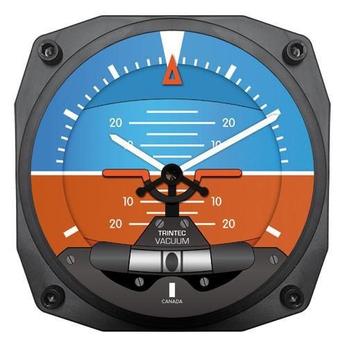 "6"" Modern Artificial Horizon Instrument Style Clock"