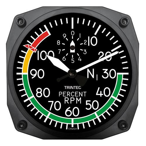 "6"" Modern Percent RPM Instrument Style Clock"