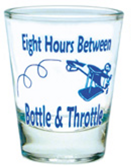 Eight Hours Shot Glass (Blue)