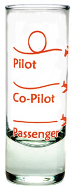 Pilot. Co-pilot shot glass (Red)