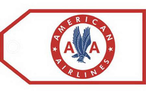 American Airlines Retro Luggage Tag