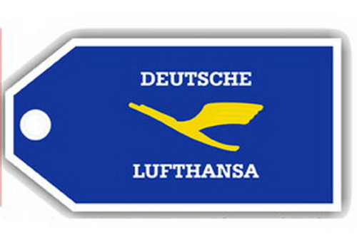 Lufthansa Retro Luggage Tag