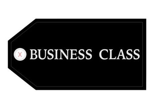 Business Class Luggage Tag