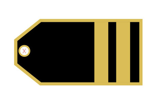 First Officer (2 stripes) Luggage Tag