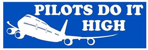 Pilots do it high - Sticker