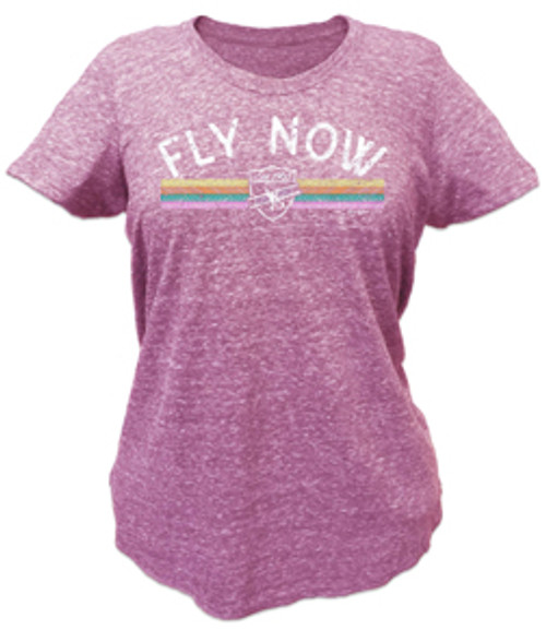 Fly Now Ladies T-Shirt - Pink