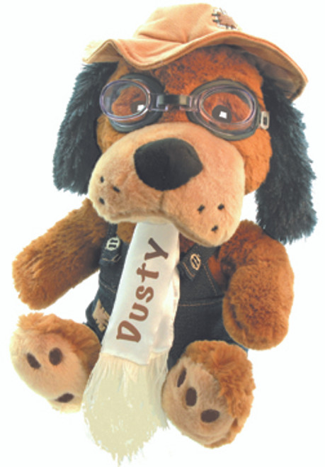 Dusty the Dog Pilot Stuffed Toy